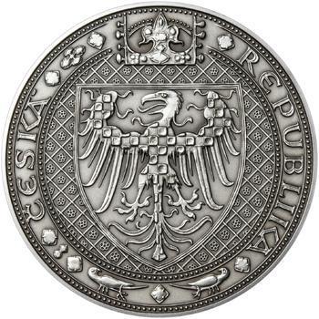 Nejkrásnější medailon III. Císař a král - 1 kg Ag patina - 2