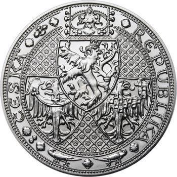 Nejkrásnější medailon I. Nové Město pražské - 1 kg Ag b.k. - 2