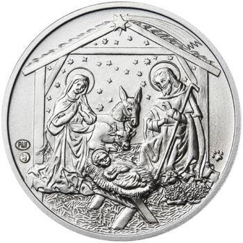 Vánoce 25 mm stříbro b.k. - 2