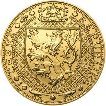 Nejkrásnější medailon II. Královská pečeť - 1 kg Au b.k. - 2