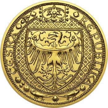 Nejkrásnější medailon IV. - Karlštejn zlato b.k. - 2