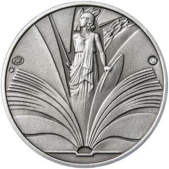 K ukončení studia 25 mm stříbro patina - 2