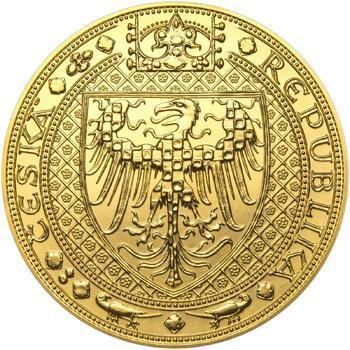Nejkrásnější medailon III. Císař a král - 1 kg Au b.k. - 2