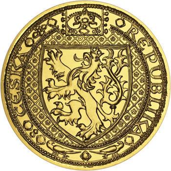 Nejkrásnější medailon II. - Královská pečeť - 2 Oz zlato b.k. - 2