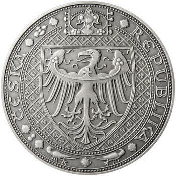 Nejkrásnější medailon IV. - Karlštejn 50 mm Ag patina - 2