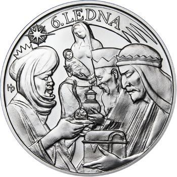 Tři králové 25 mm stříbro b.k. - 2