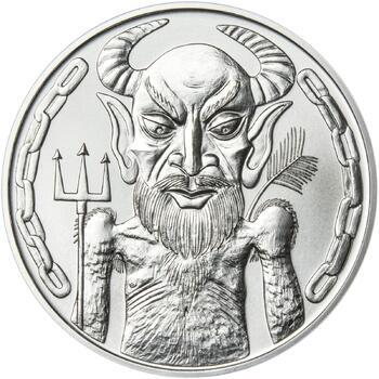 Čert a Mikuláš 50 mm stříbro b.k. - 2