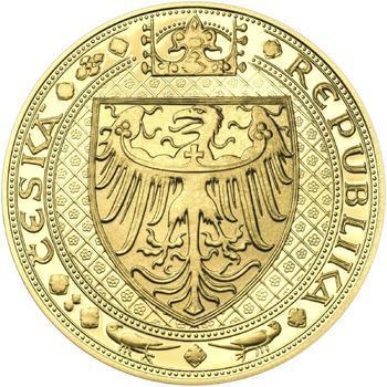 Nejkrásnější medailon IV. - Karlštejn 2 Oz zlato b.k. - 2