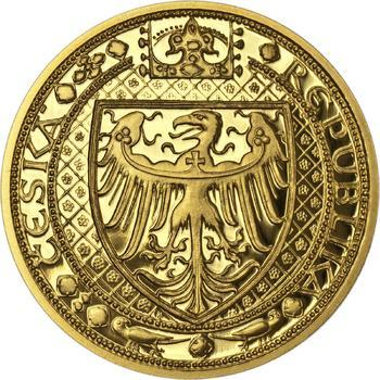 Nejkrásnější medailon IV. - Karlštejn zlato Proof - 2