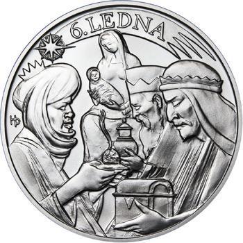 Tři králové 50 mm stříbro b.k. - 2