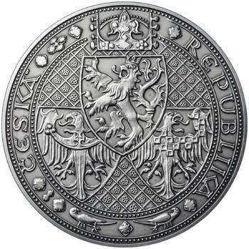 Nejkrásnější medailon I. Nové Město pražské - 1 kg Ag patina - 2