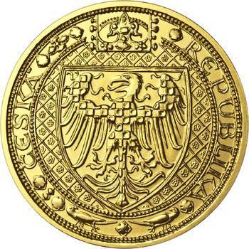 Nejkrásnější medailon III. Císař a král - 2 Oz zlato b.k. - 2
