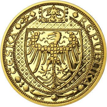 Nejkrásnější medailon III. Císař a král - 2 Oz zlato Proof - 2