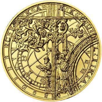 b.k. - Pražské dukáty - 10 dukát - Staroměstský orloj Au - 2