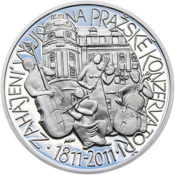 PRAŽSKÁ KONZERVATOŘ – návrhy mince 200,-Kč - sada tří Ag medailí 34mm Proof v etui - 2