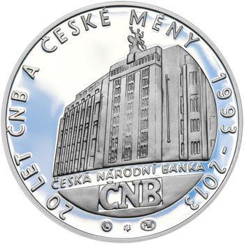 20 LET ČNB A ČESKÉ MĚNY – návrhy mince 200 Kč - sada tří Ag medailí 34 mm Proof v etui - 2