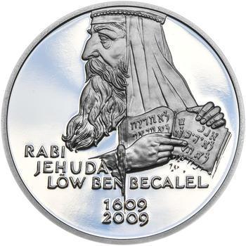 RABÍ JEHUDA LÖW – návrhy mince 200 Kč - sada II. tří Ag medailí 34 mm Proof v etui - 2