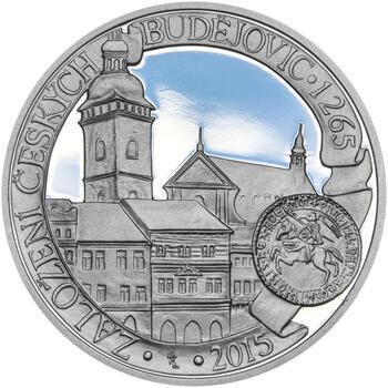 ČESKÉ BUDĚJOVICE – návrhy mince 200 Kč - sada tří Ag medailí 34 mm Proof v etui - 2
