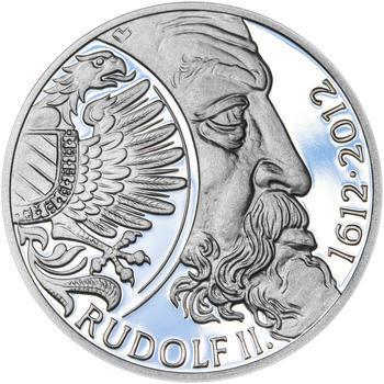 RUDOLF II. – návrhy mince 200,-Kč - sada tří Ag medailí 34mm Proof v etui - 2