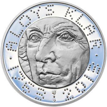 ALOYS KLAR – návrhy mince 200,-Kč - sada tří Ag medailí 34mm Proof v etui - 2