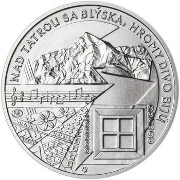 Nad Tatrou sa blýska - 28 mm stříbro b.k. - 2