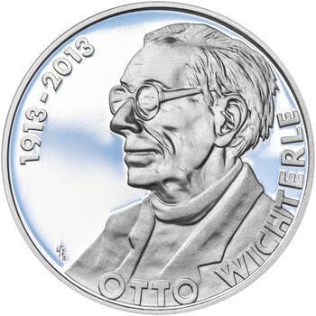 OTTO WICHTERLE – návrhy mince 200 Kč - sada tří Ag medailí 34 mm Proof v etui - 2