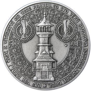 Dušan Samuel Jurkovič ( 60 let od jeho úmrtí ) - stříbro patina - 2