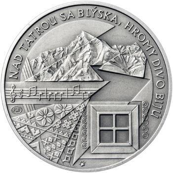 Nad Tatrou sa blýska - 1 Oz stříbro patina - 2