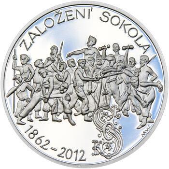 ZALOŽENÍ SOKOLA – návrhy mince 200 Kč - sada tří Ag medailí 34 mm Proof v etui - 2