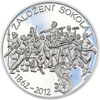 ZALOŽENÍ SOKOLA – návrhy mince 200,-Kč - sada tří Ag medailí 34mm Proof v etui - 2