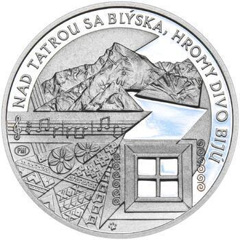 Nad Tatrou sa blýska - 28 mm stříbro Proof - 2