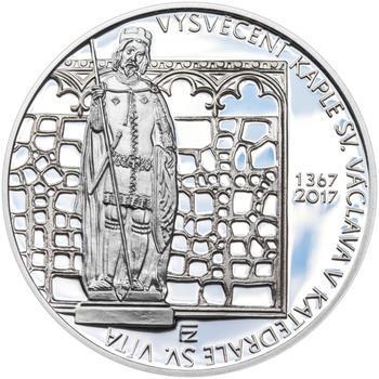 Mince ČNB - 2017 b.k. - 200 Kč Vysvěcení kaple sv. Václava v katedrále sv. Víta - 2