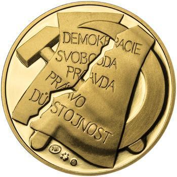 25. únor 1948 - 66. výročí od komunistického puče - 1/2 Oz zlato Proof - 2