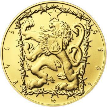 17. listopad 1989 - zlato 1/2 Oz b.k. - 2