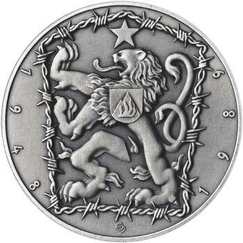 17. listopad 1989 - stříbro 1 Oz patina - 2