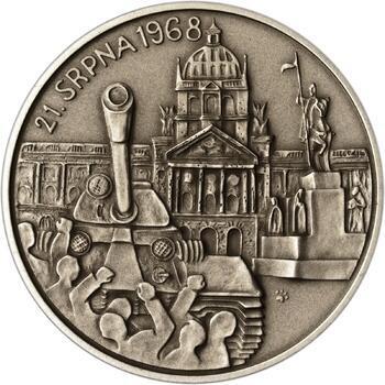 Vpád vojsk Varšavské smlouvy - 21. srpen 1968 -  1 Oz Ag patina - 2