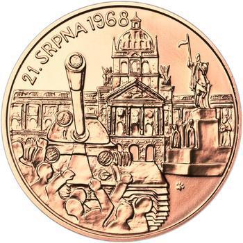 Vpád vojsk Varšavské smlouvy - 21. srpen 1968 -  1 Oz Měď b.k. - 2