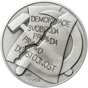 25. únor 1948 - 66. výročí od komunistického puče  - 28 mm stříbro patina - 2
