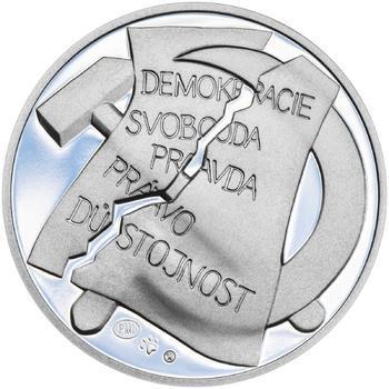 25. únor 1948 - 66. výročí od komunistického puče  - 28 mm stříbro Proof - 2
