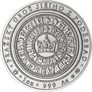 550 let od korunovace Jiřího z Poděbrad českým králem - stříbro b.k. - 2