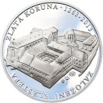 KLÁŠTER ZLATÁ KORUNA – návrhy mince 200,-Kč - sada tří Ag medailí 34mm Proof v etui - 2