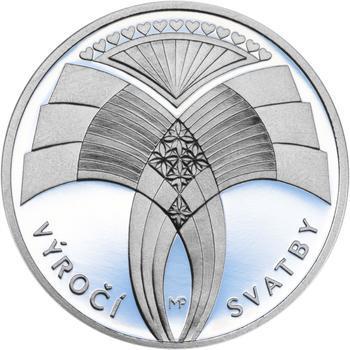 Výročí svatby 25 mm stříbro Proof - 2
