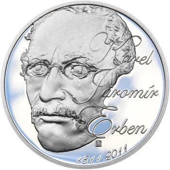 KAREL JAROMÍR ERBEN – návrhy mince 500 Kč - sada tří Ag medailí 34 mm Proof v etui - 2