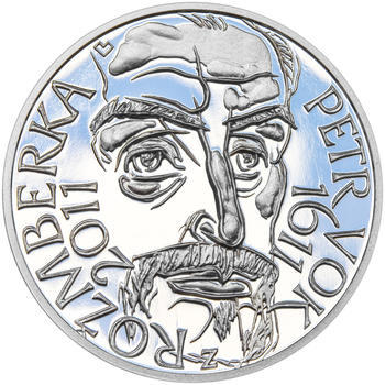 PETR VOK Z ROŽMBERKA – návrhy mince 200 Kč - sada tří Ag medailí 34 mm Proof v etui - 2