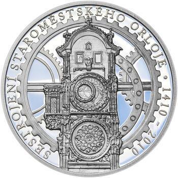 STAROMĚSTSKÝ ORLOJ – návrhy mince 200 Kč - sada tří Ag medailí 34 mm Proof v etui - 2