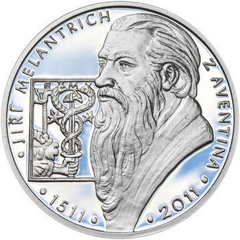 JIŘÍ MELANTRICH Z AVENTINA – návrhy mince 200,-Kč - sada tří Ag medailí 34mm Proof v etui - 2