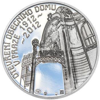 OBECNÍ DŮM V PRAZE – návrhy mince 200,-Kč - sada tří Ag medailí 34mm Proof v etui - 2