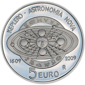 San Marino 400th Ann.of J Kepler's Astr. Nova Treaty Ag Proof - 2