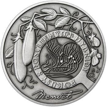 Johan Gregor Mendel - stříbro patina - 2