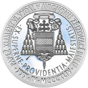 Povýšení pražského biskupství na arcibiskupství - 670 let - 28 mm stříbro Proof - 2